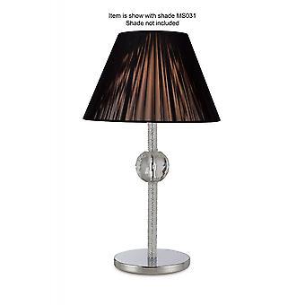 Diyas Elena Table Lamp Without Shade 1 Light Polished Chrome/Crystal