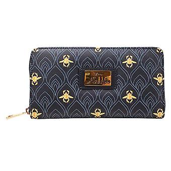 Aladdin Purse all over print new Official Disney Black Zip Around