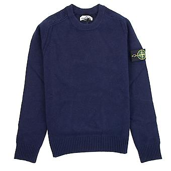 Stone Island Knitted Wool Sweater Navy V0020