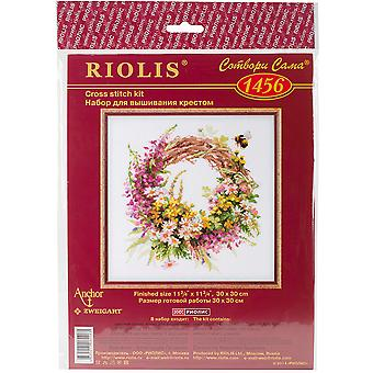 Wreath With Firewood Counted Cross Stitch Kit-11.75
