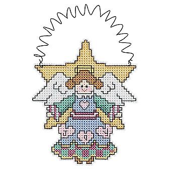 Holiday Wizzers Angel Counted Cross Stitch Kit 3 1 2