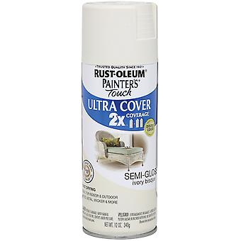 Painter's Touch Ultra Cover Aerosol Paint 12 Ounces Semi Gloss Ivory Bisque Ptuc249 49860