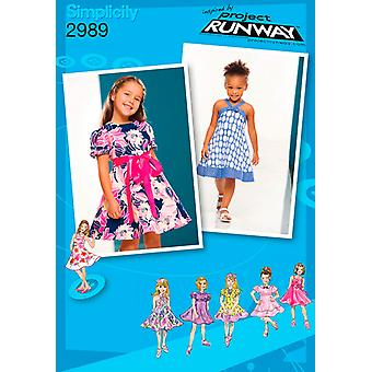 Simplicity Toddler And Child Dresses 1 2 1 2 3 U02989aa
