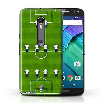 STUFF4 Case/Cover for Motorola Moto X Style/4-4-2/White/Football Formation