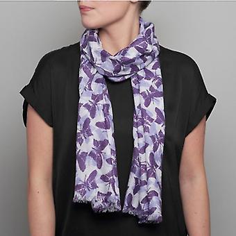 Lola Rose Leaf Butterflies Scarf - Purple