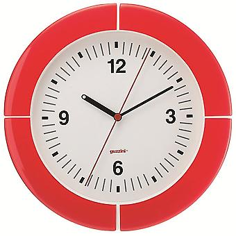 Guzzini i Clock Red Wall Clock