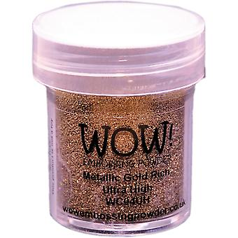 WOW! Embossing poeder Ultra hoge 15ml-Metallic Gold Rich WOW-UH-WC04