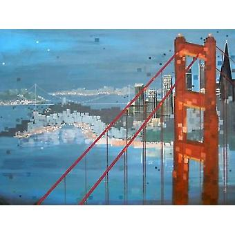 Twilight San Francisco Poster Print by Carol Joy Shannon