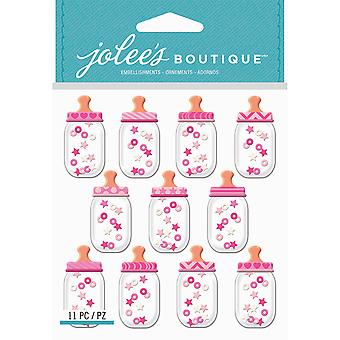 Jolee's Boutique Dimensional Stickers-Baby Girl Bottle Dome E5021933