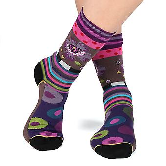Thought women's crazy combed cotton crew socks | French design by Dub & Drino