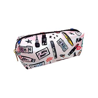W7 Cosmetic Print Small Plush Cosmetic & Make Up Bag