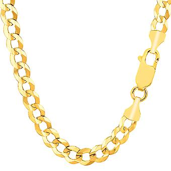 14 k geel gouden Comfort Curb Chain ketting, 7,0 mm