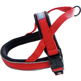 Dog & Co Nylon Norwegian Harness Reflective Padded Red Medium