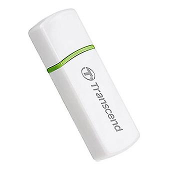 Transcend P5 USB 2.0 M2 & SD Compact Card Reader in White. TS-RDP5W