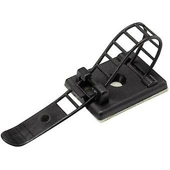 Cable mount Self-adhesive, Screw fixing + strap Black Conrad Components 1206771 WCT-85 1 pc(s)