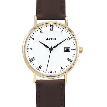 4YOU Herre ur wrist watch analog quartz syntetisk læder 250001004