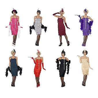 Charleston 20er Jahre Kostüm Fransenkleid Damen Kleid Mafia Krimi Dinner