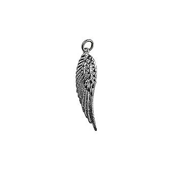 Silver 39x12mm Angel's Wing Pendant or Charm