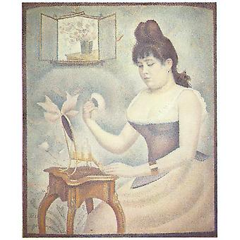 Georges Seurat - Woman at Desk Poster Print Giclee