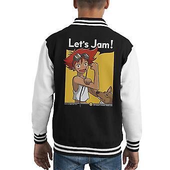 Jamming With Edward Cowboy Bebop Kid's Varsity Jacket