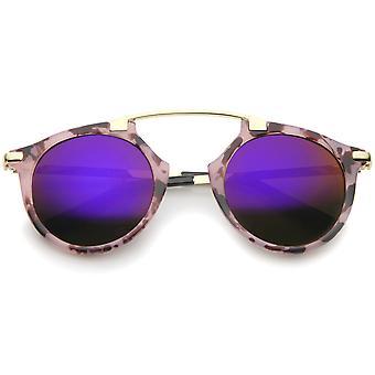 High Fashion buet marmor farve stel farve Mirror Pantos Aviator solbriller 48mm