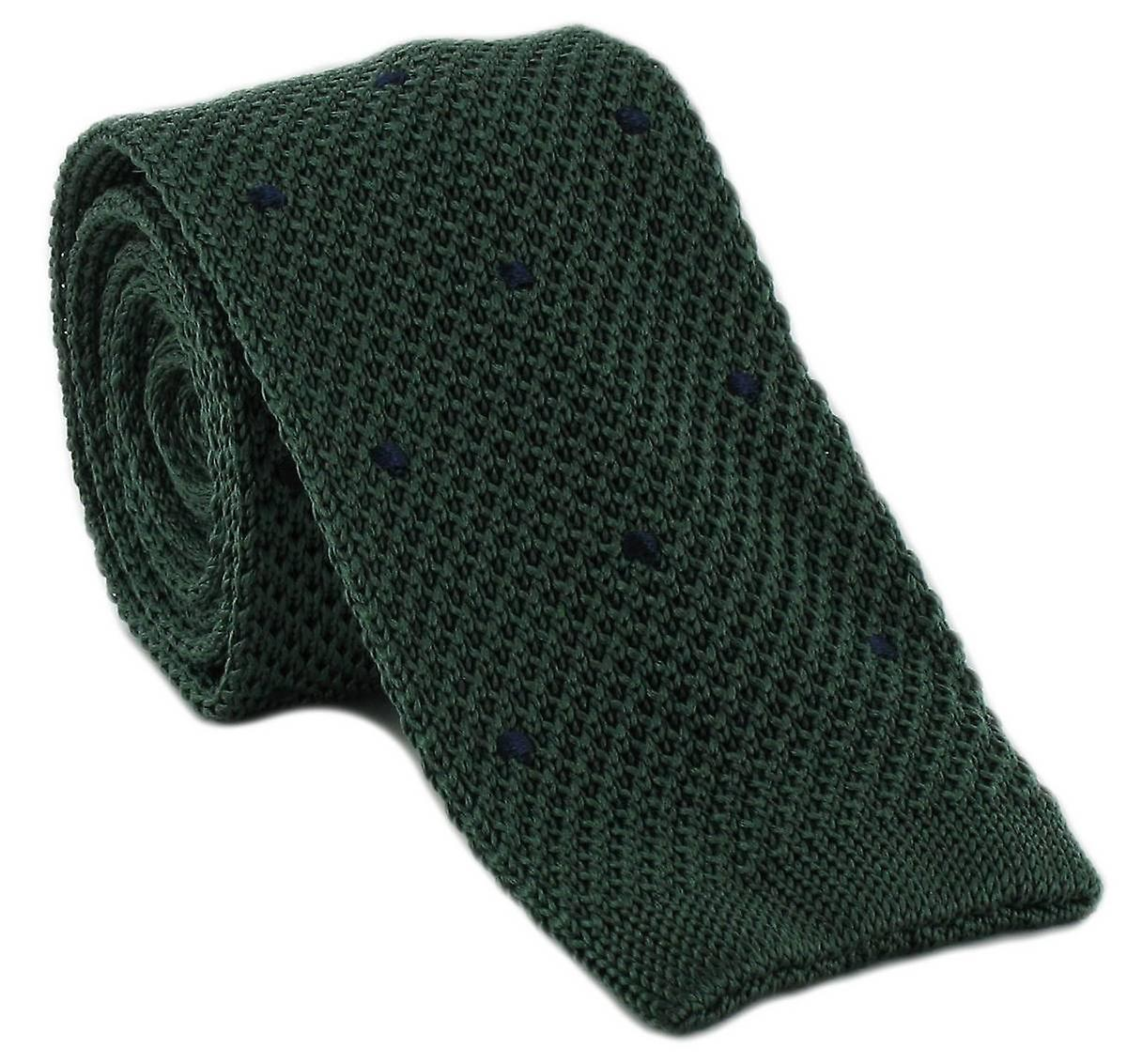 Michelsons of London Spot Design Tie - Green/Navy