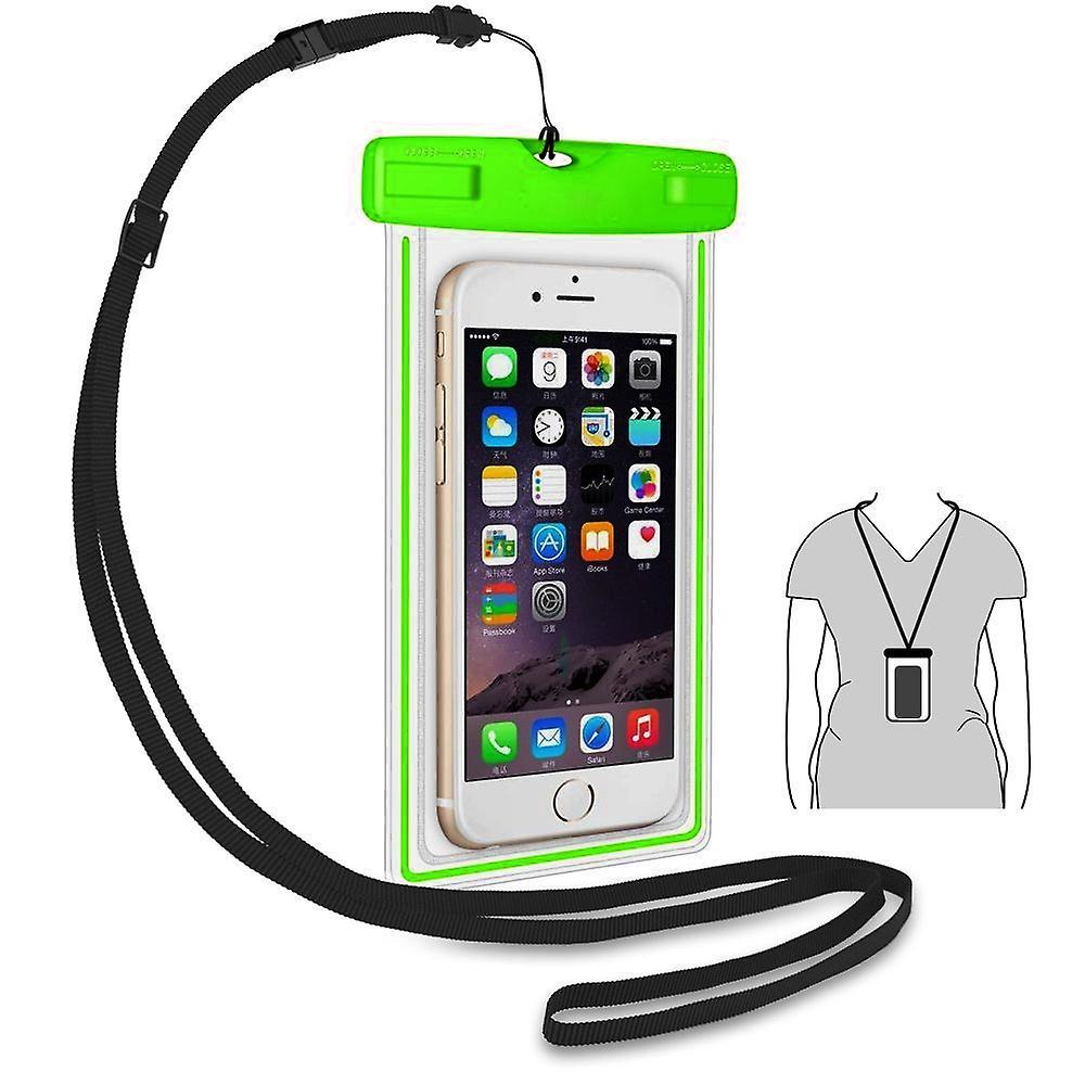 ONX3 (grön) Alcatel Flash / Flash Plus Universal hållbara undervattens torra väska, Touch lyhörd genomskinliga Windows, vattentätt förseglat System Pouch