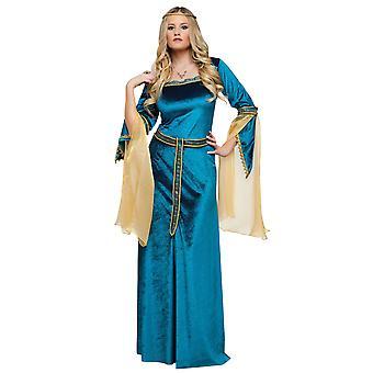 Costume de princesse Renaissance médiévale luxe Lady Guinevere livre semaine Womens
