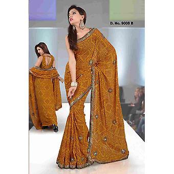 Akshara-Fancy festival dragen ontwerper Georgette Sari met pailletten ontwerp
