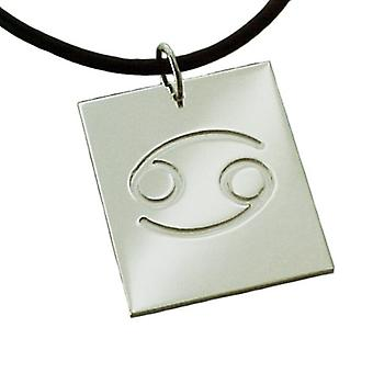 Chain Zodiac cancer 925 sterling silver with natural rubber necklace with pendant