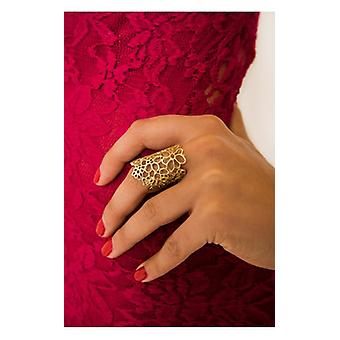The Fashion Bible Gold Daisy Ring