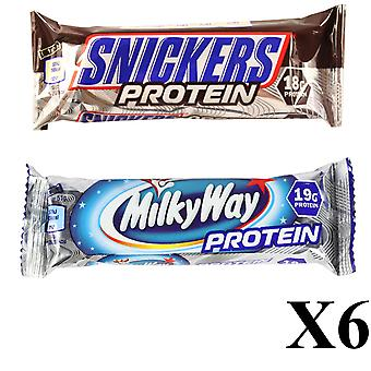 6 X MILKYWAY & 6 X SNICKERS PROTEIN BARS