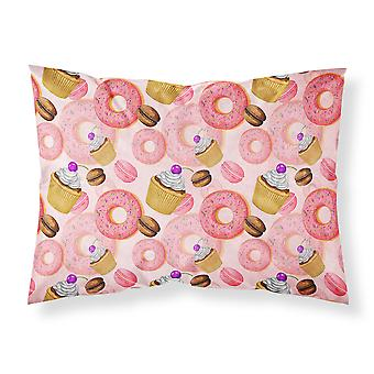 Pastelería dulce acuarela tela funda de almohada estándar