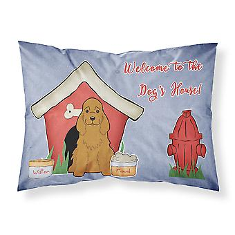 Dog House Collection Cocker Spaniel Red Fabric Standard Pillowcase