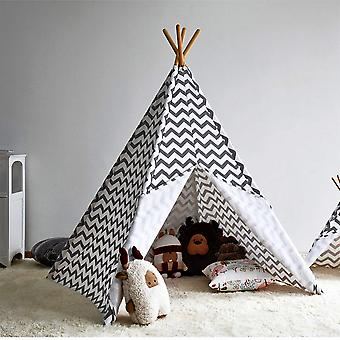 Modern Home Kinder Oxford Tipi Set mit Reise-Etui - Grau Chevron