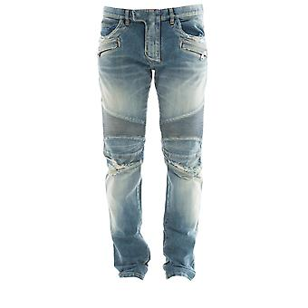Balmain men's P0HT551C710V155 light blue cotton of jeans