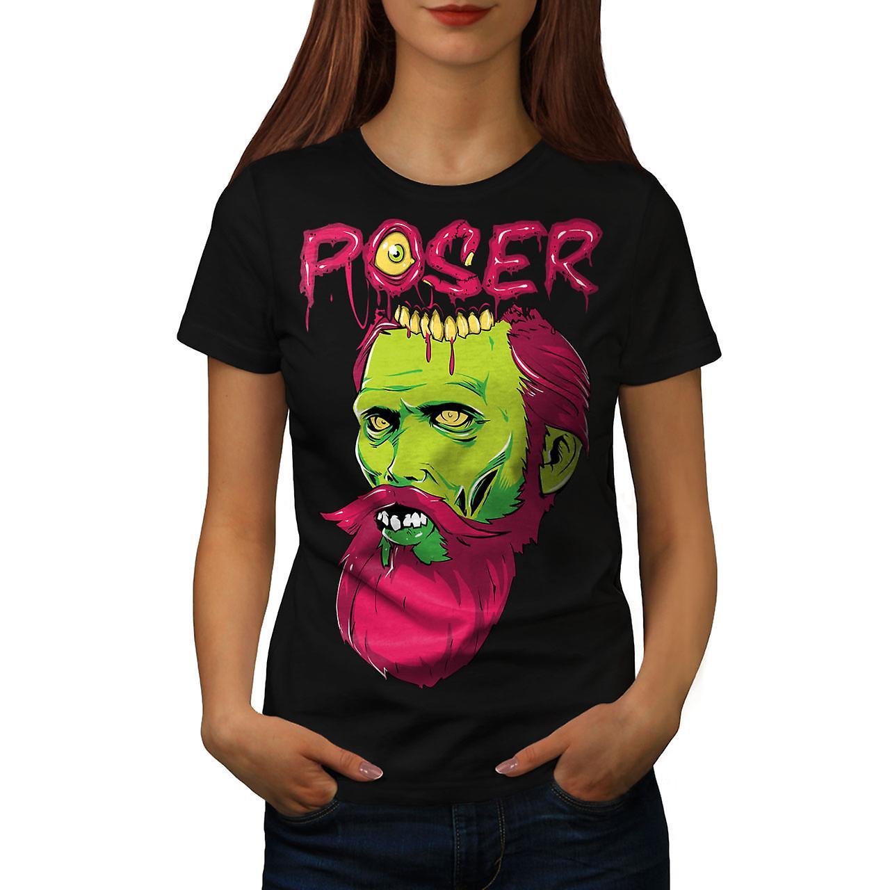 Poser Monster Rock Zombie Women Black T-shirt | Wellcoda