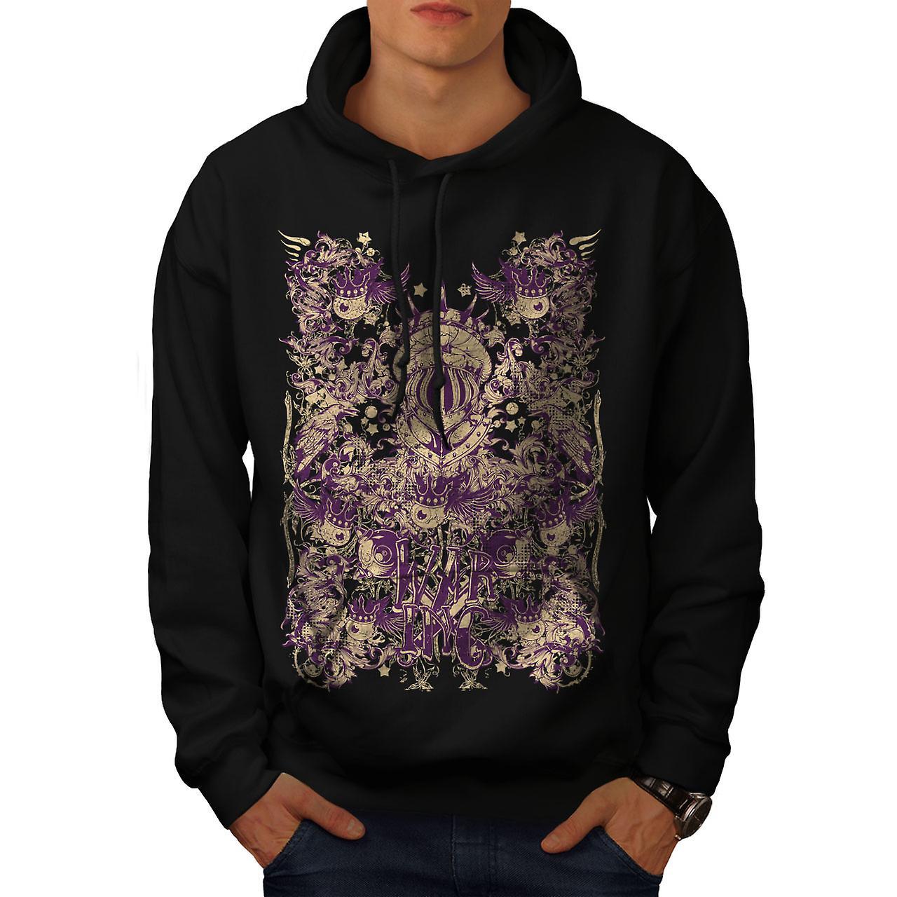 War Inc. Zombie Fashion Men Black Hoodie | Wellcoda