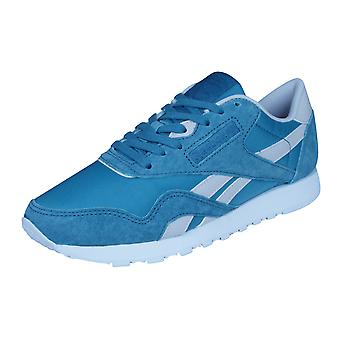Reebok Classic Nylon X Face Womens Trainers / Shoes - Blue