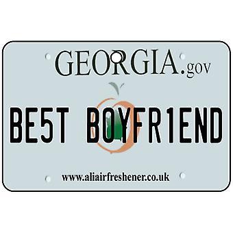 Georgia - mejor novio placa ambientador