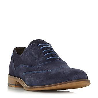 Dune Mens BARTRA Oxford Brogue chaussure en bleu