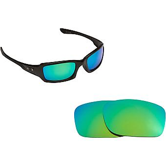 Fives 4.0 Replacement Lenses Green Mirror by SEEK fits OAKLEY Sunglasses