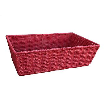 Extra Large Red Paper Rope Tray