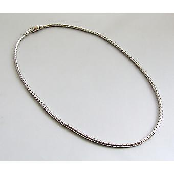 Cristiano 14 quilates de oro blanco collar