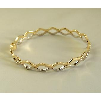 14 k Yellow and white gold bracelet