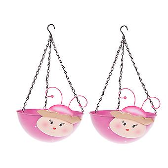 Pair PRINCESS Wobblehead Metal Hanging Baskets 11' 28cm diameter
