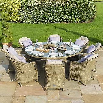Maze Rattan Winchester 8 Seat Rounded Armchair Set