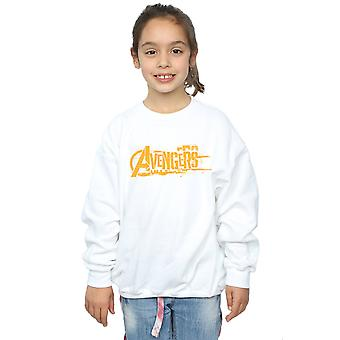 Avengers Girls Infinity War Orange Logo Sweatshirt