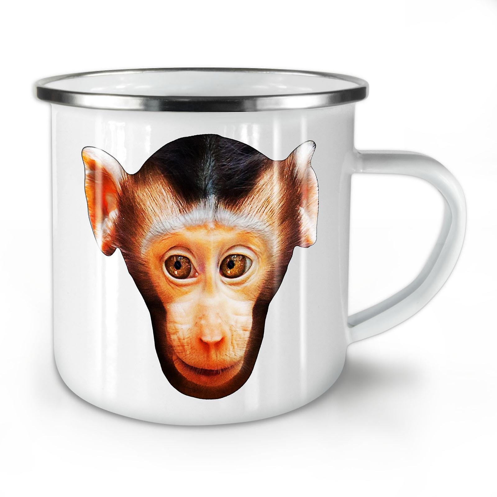 Café Visage Whitetea Singe Mug10 Nouveau Mignon Animal Émail OzWellcoda WI9DH2YE