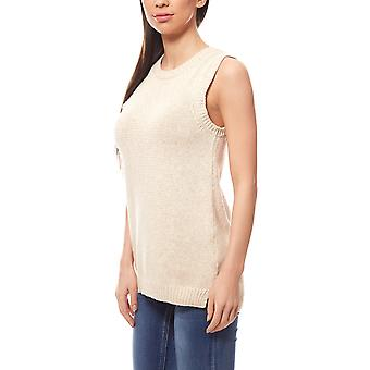 ADPT. Brooklyn knit top ladies knitted pullovers beige with a simple look